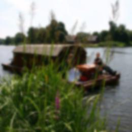 Das Hausboot auf der Peene