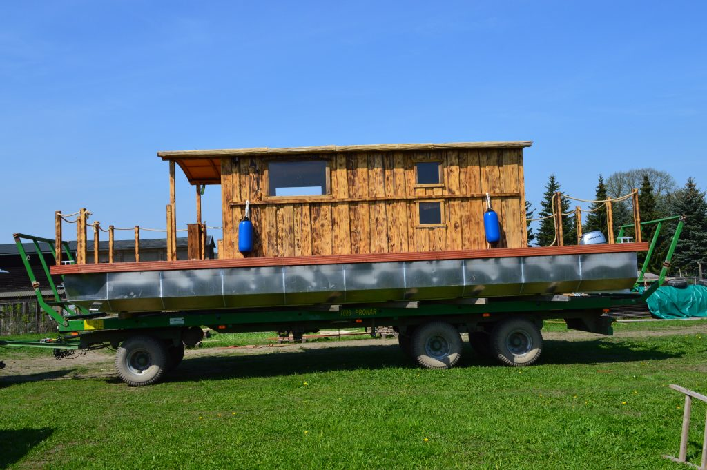 Das Driftholt II bereit für den Transport zur Peene