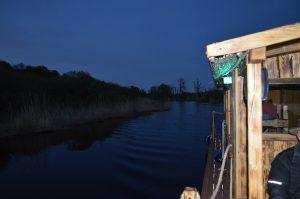 Die Peene lässt sich auch wunderbar bei Nacht und Mondschein befahren. Dabei ist es keine Seltenheit, dass man Bibern oder Fischottern begegnet.