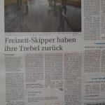 Zeitungsartikel: Das Befahren der Trebel ist erlaubt!