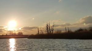 Sonnenuntergang an der Mecklenburgischen Seenplatte